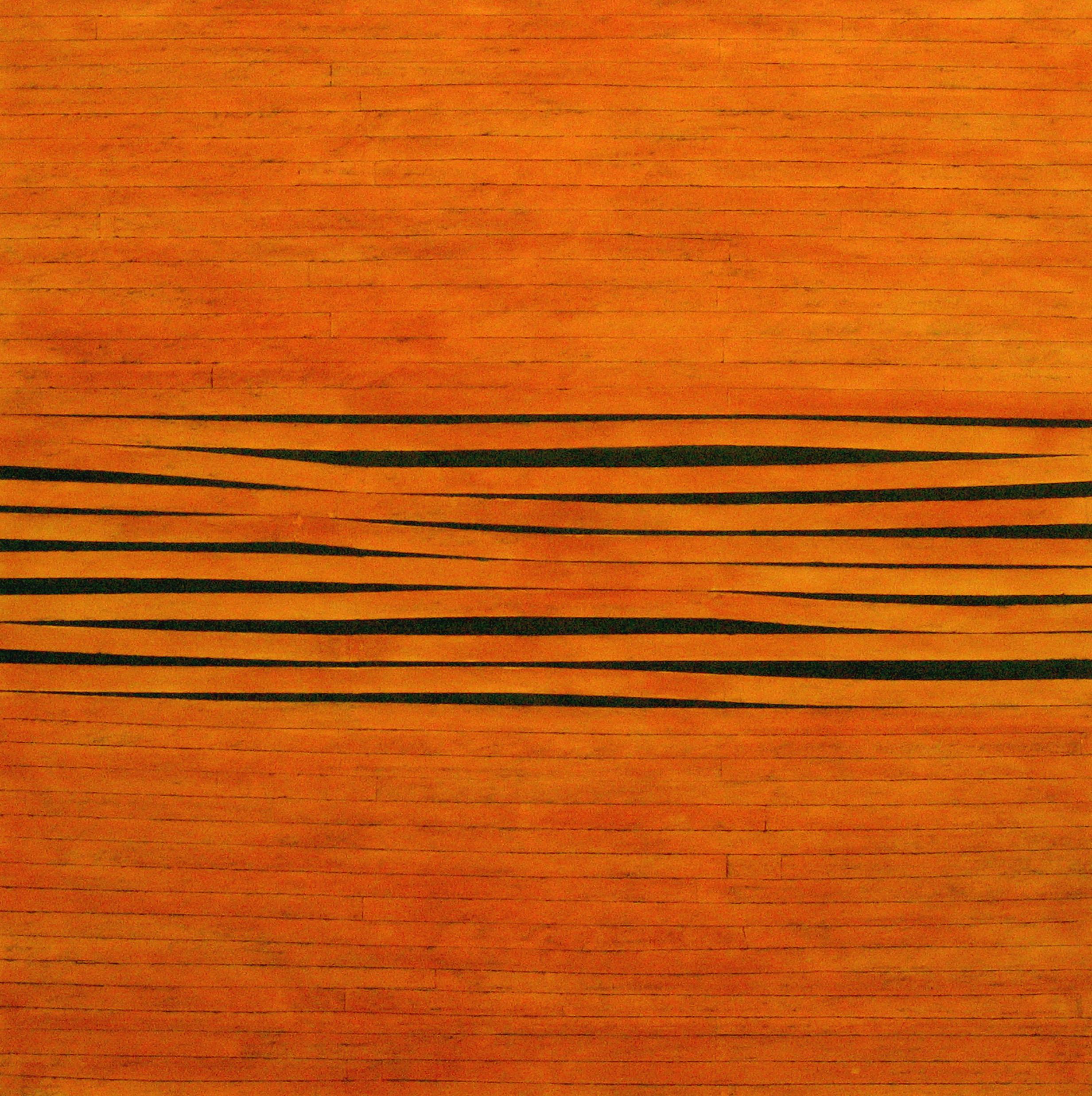 Sam Grigorian, Untitled , 2006, mixed media, decollage, 150 x 150 cm