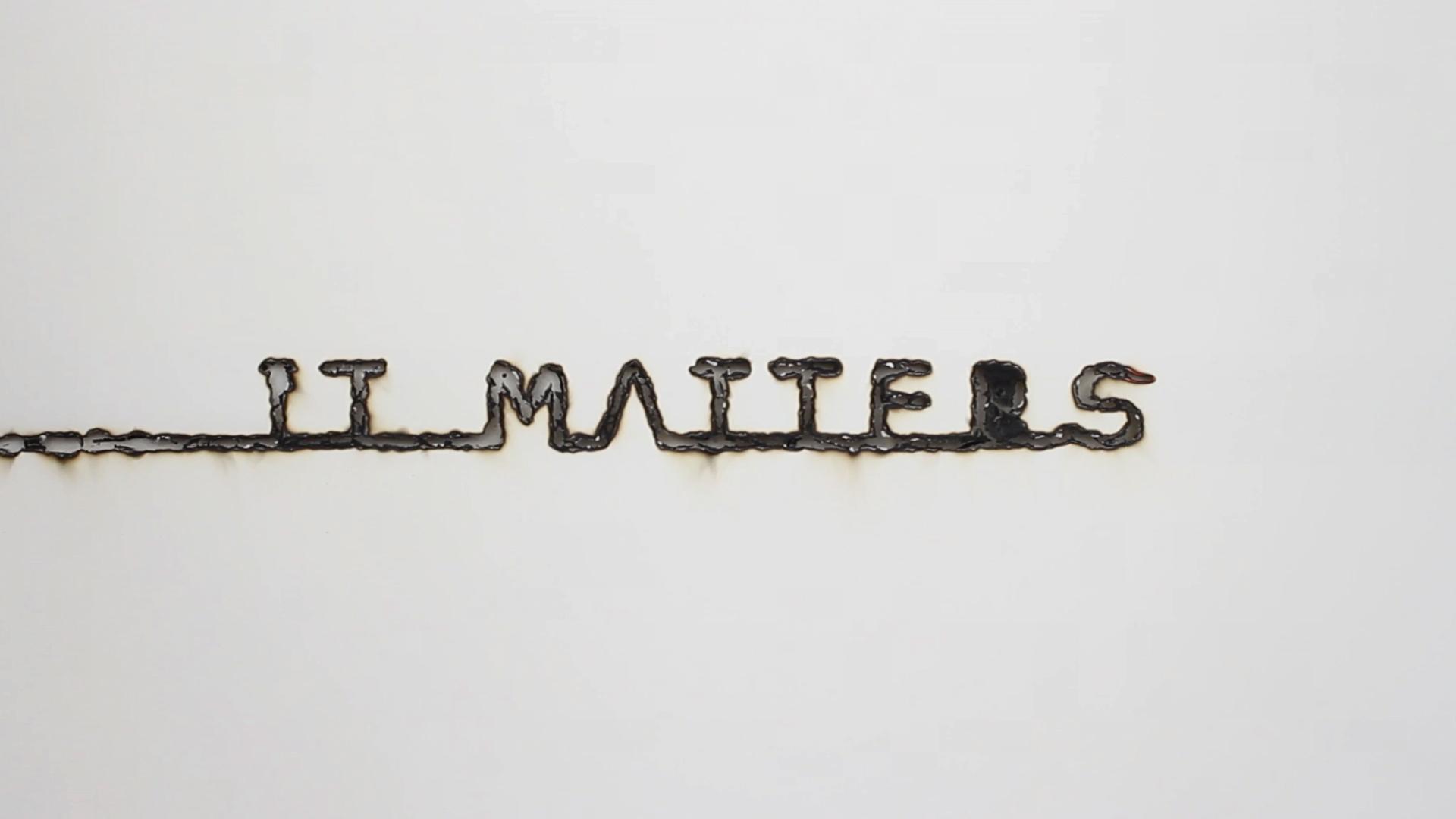 Michaela Gleave, IT MATTERS , 2013, HD Video, 13.42min, edition of 3