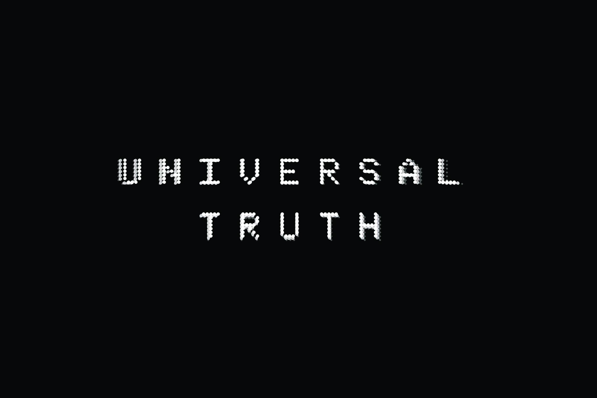 Michaela Gleave, Universal Truth , 2012, LED lights, 65 x 95cm