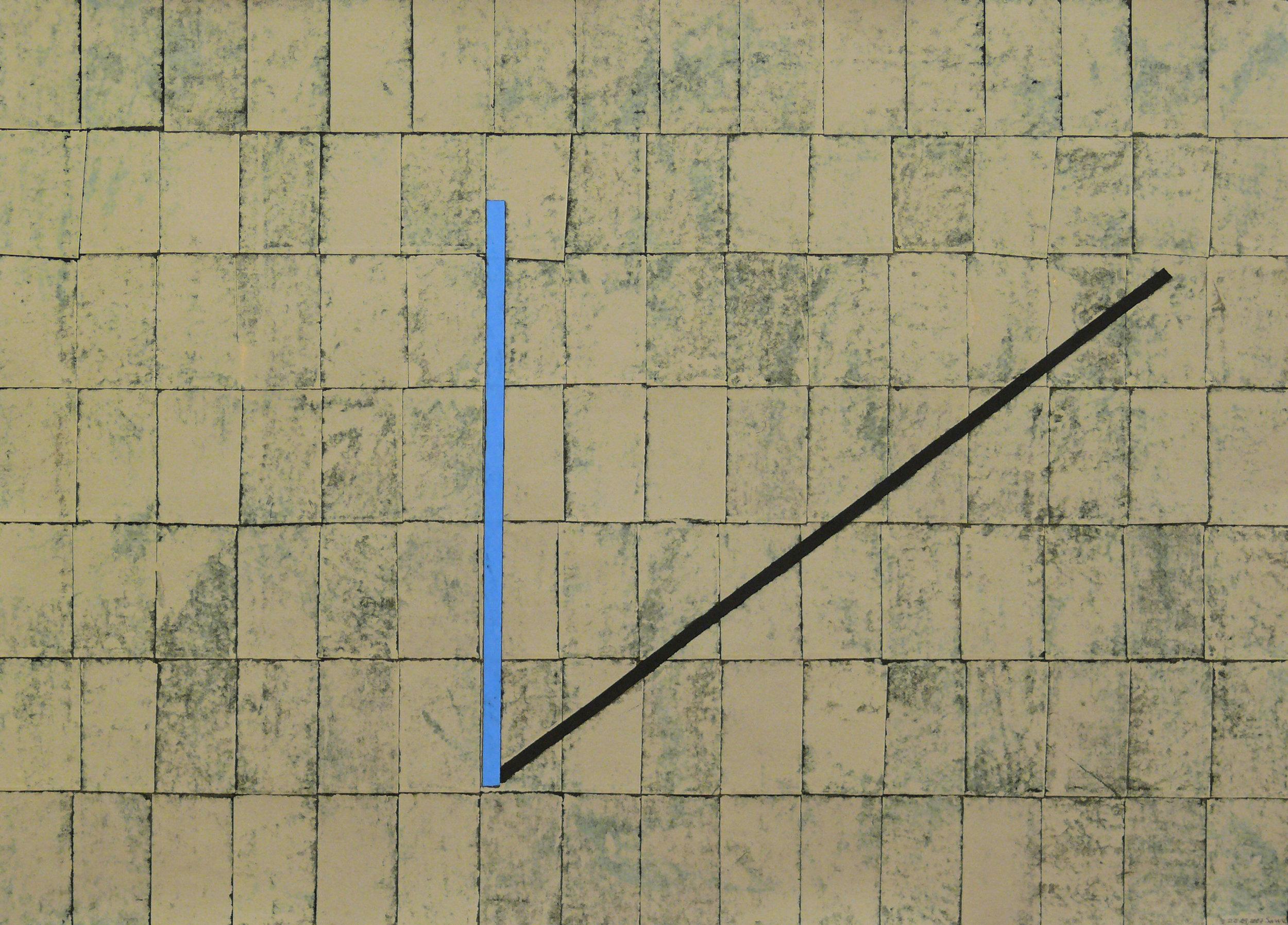 Sam Grigorian, Shadow , 2007, mixed media décollage, 66 x 96cm