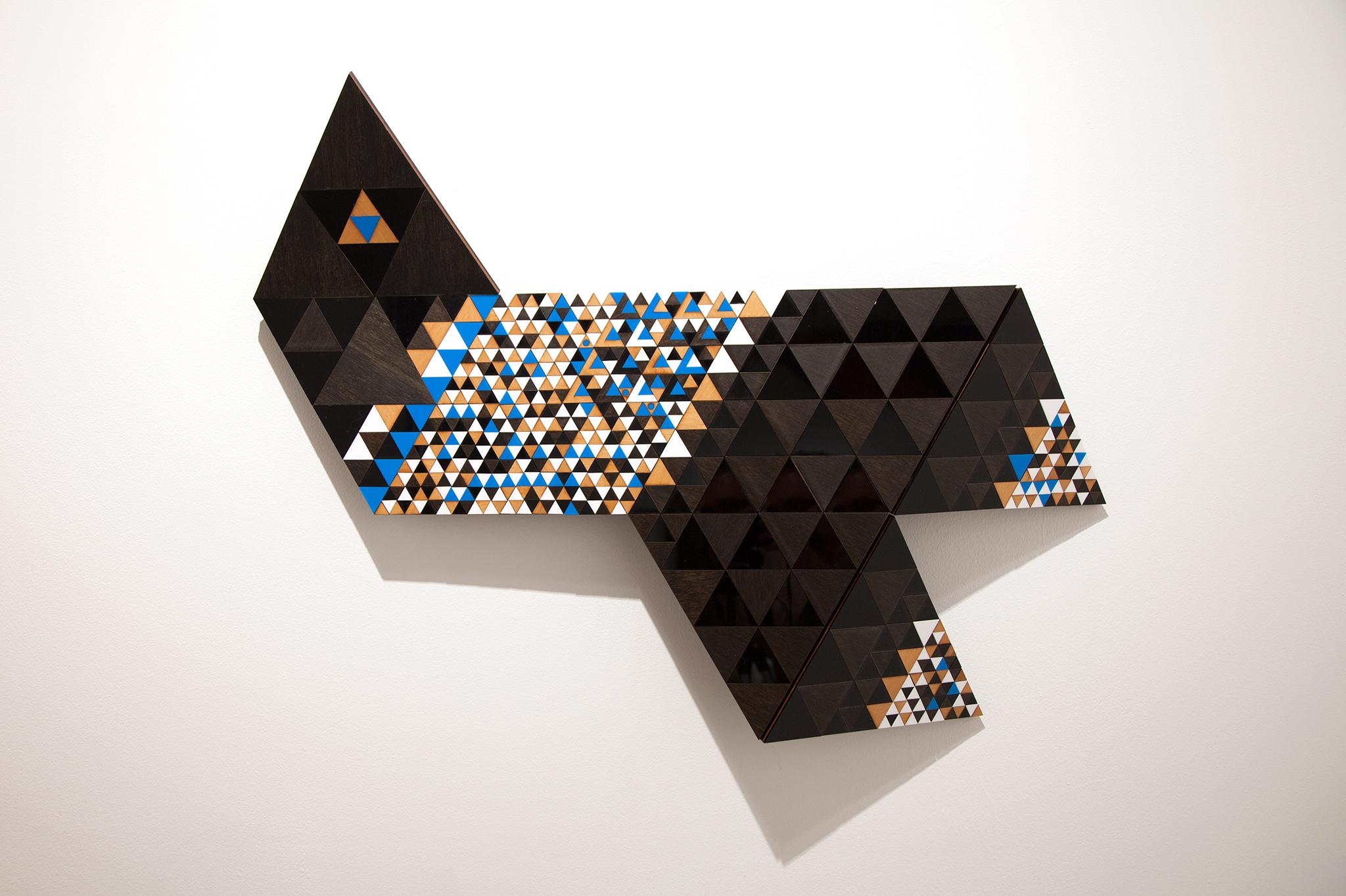 Troy Innocent, Delta , 2014, laser cut plywood and acylic, 66 x 89cm