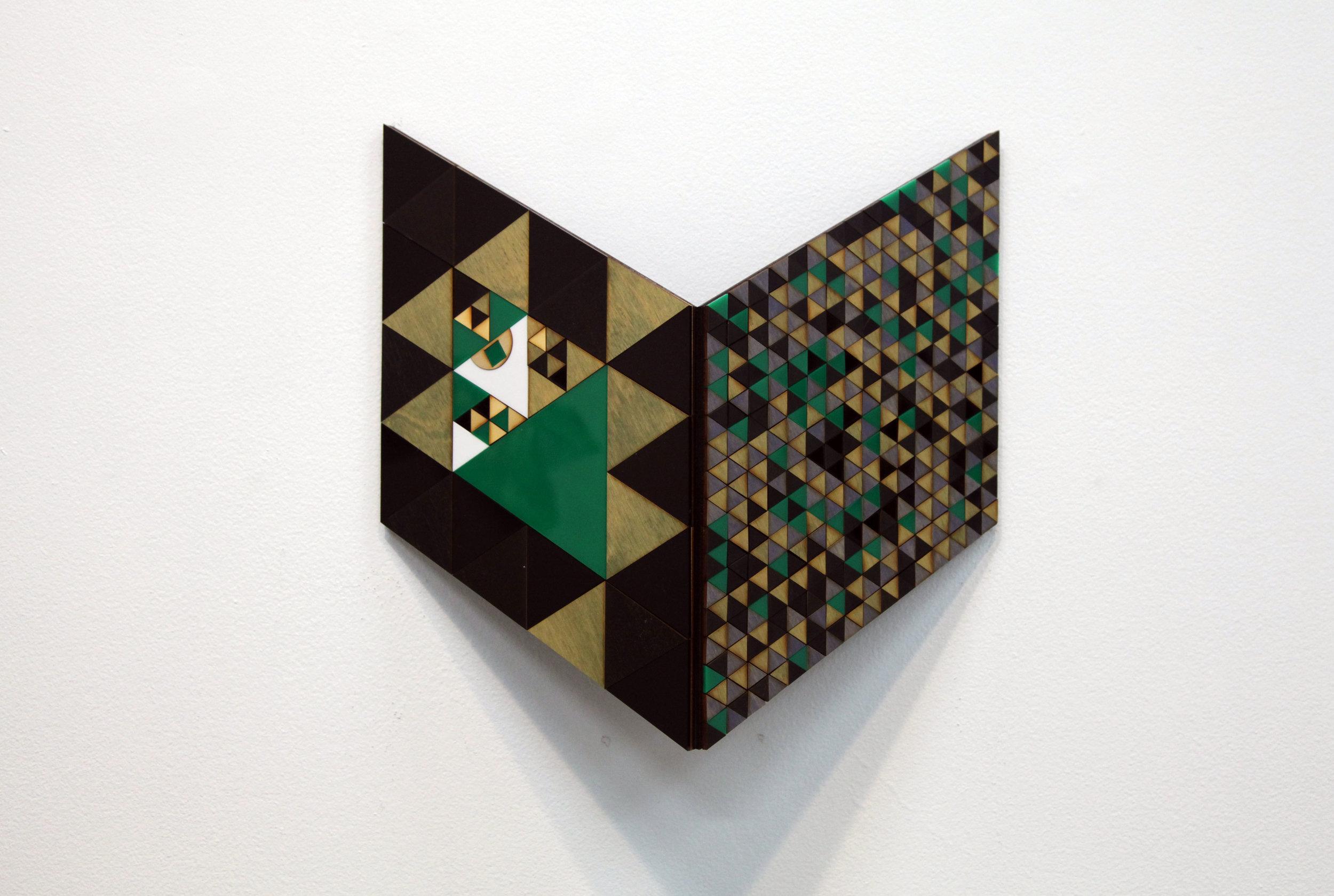 Troy Innocent, Precipice , 2015, laser cut plywood and acrylic