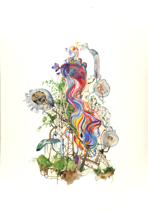 Simon MacEwan, Such Stuff As Dreams Are Made On , 2010, watercolour on paper, 30 x 21cm