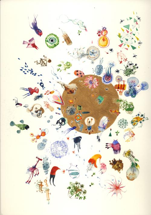 Simon MacEwan, This Rough Magic , 2011, watercolour on paper, 30 x 21cm