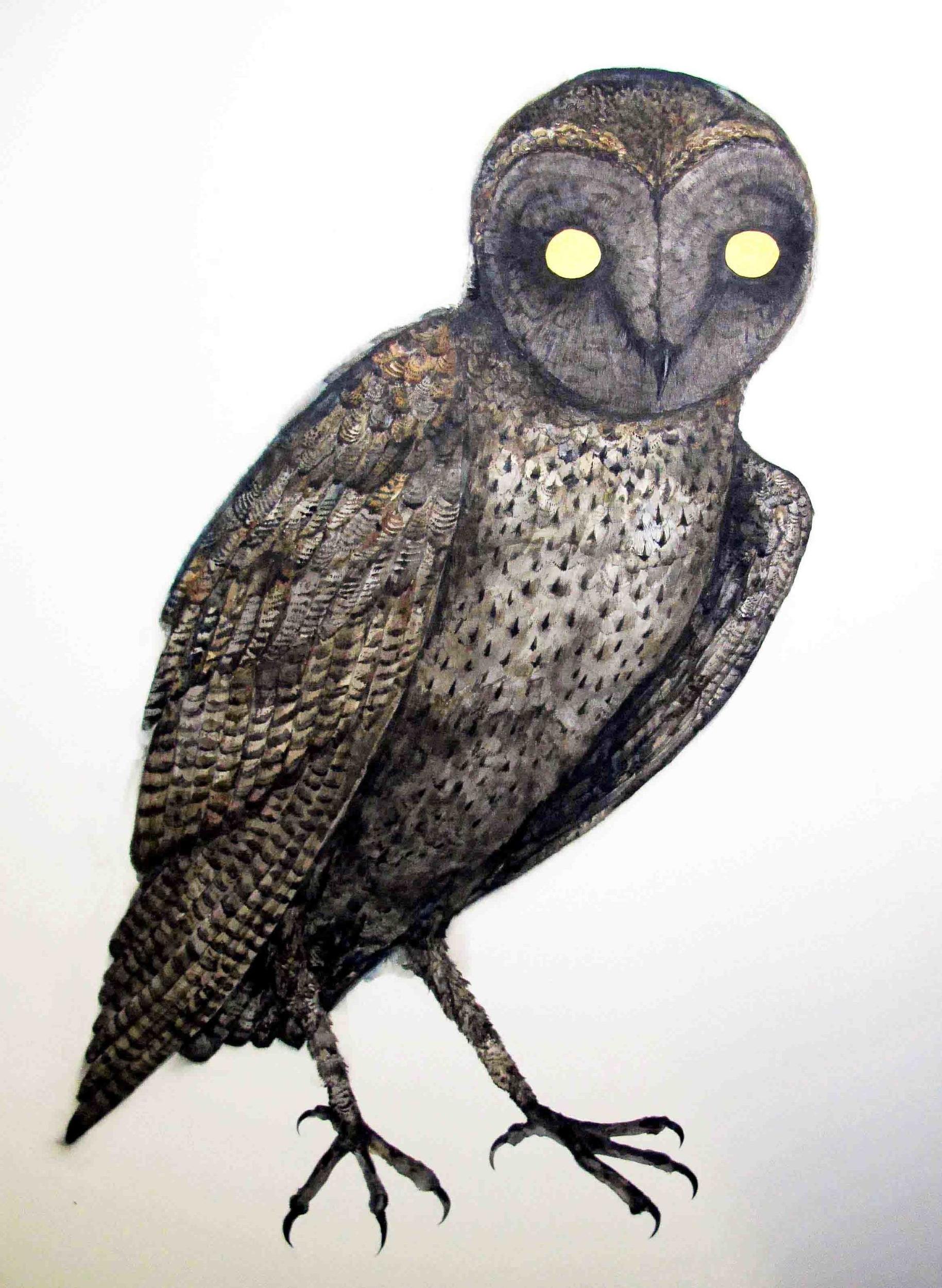 Simon MacEwan, Watcher II,  2012, watercolour on paper, 76 x 56cm