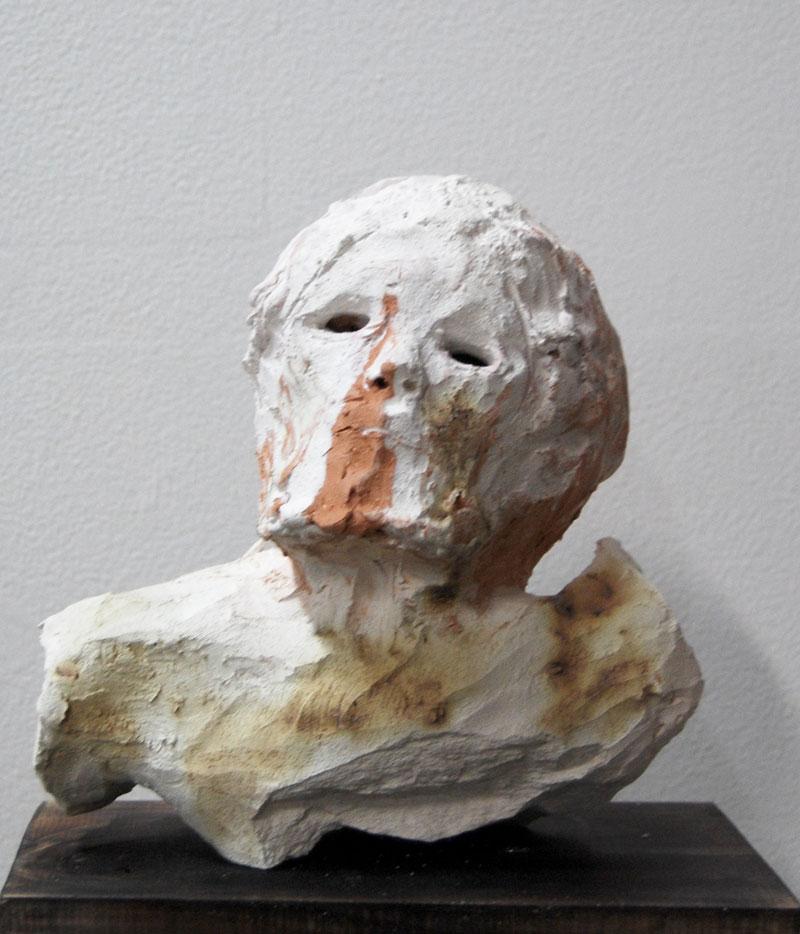 Justin Williams, Built on Ruins , 2014, stoneware ceramic, 20 x 21 x 10cm