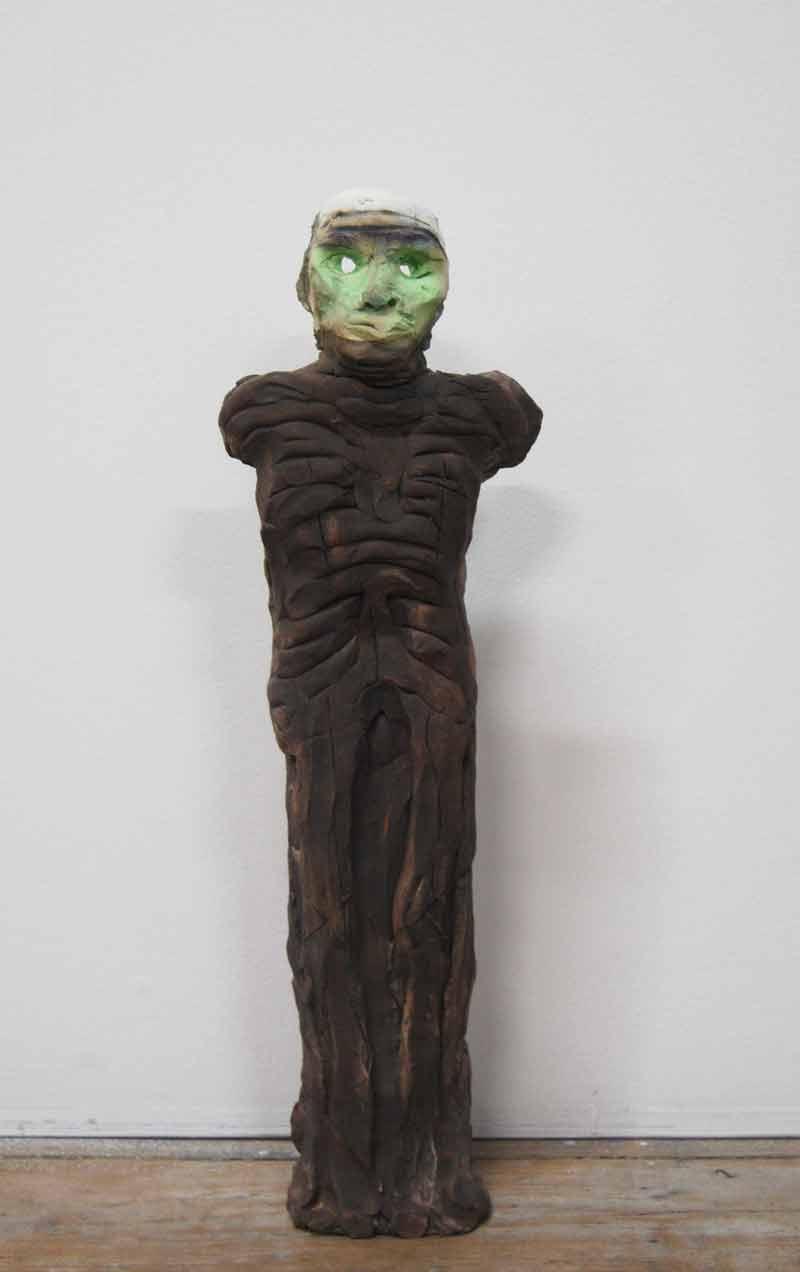 Justin Williams, Late Night in the Dark , 2014, stoneware ceramic, 40 x 4 x 4cm