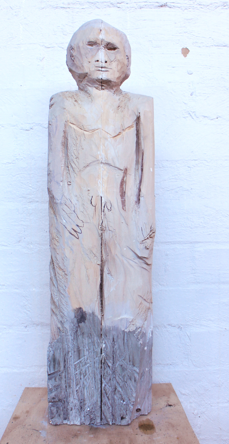 Justin Williams, LSD BOY , 2015, wood carving, pigment, 28 x 18cm