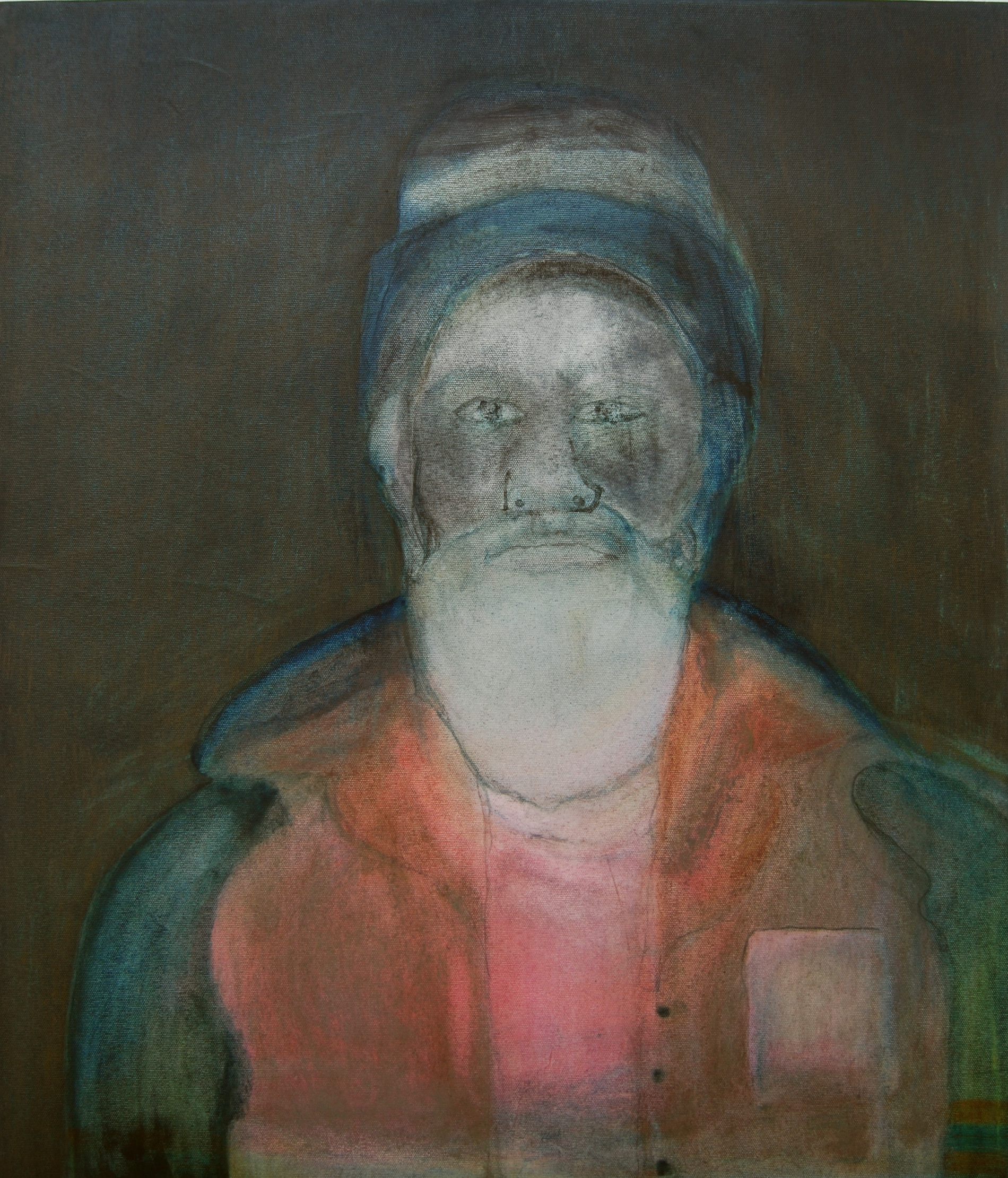 Justin Williams, Porter's Jacket , 2014, oil and raw pigment on canvas, 70 x 60cm