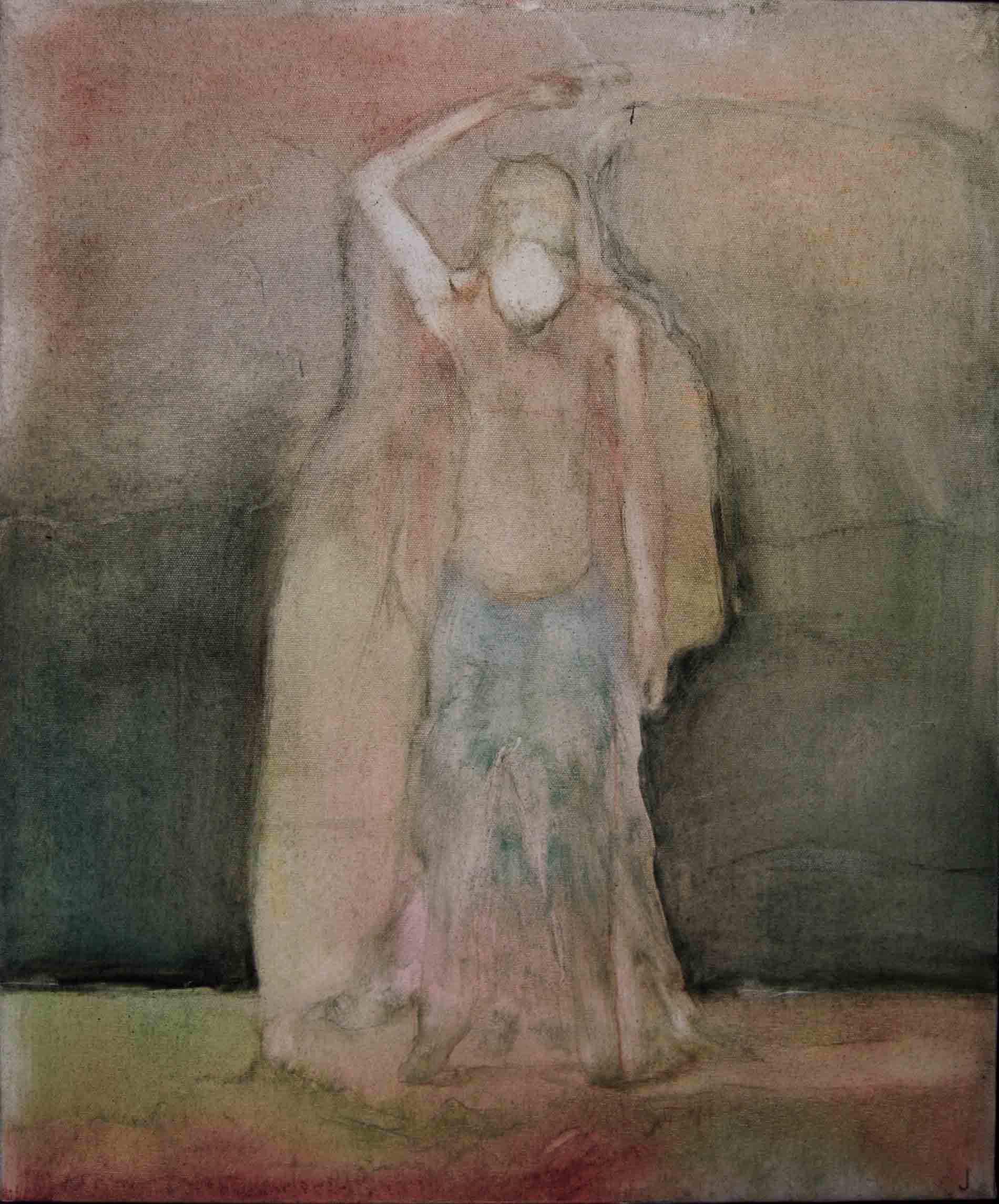 Justin Williams, Samsara , 2014, oil and raw pigments on canvas, 63 x 52cm