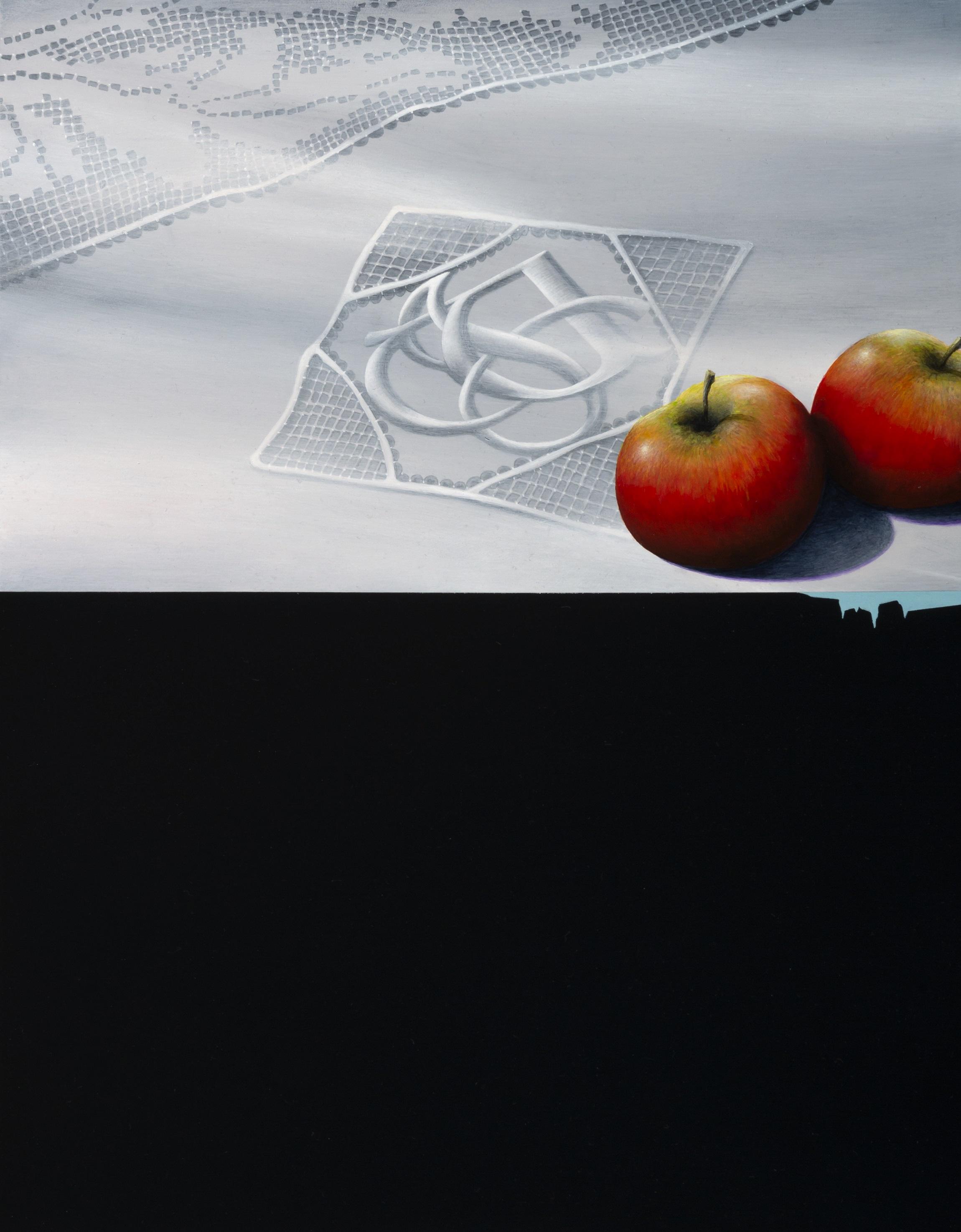 Jarek Wojcik, Spaces and Things 01 , 2015, acrylic on clayboard, 45 x 35cm