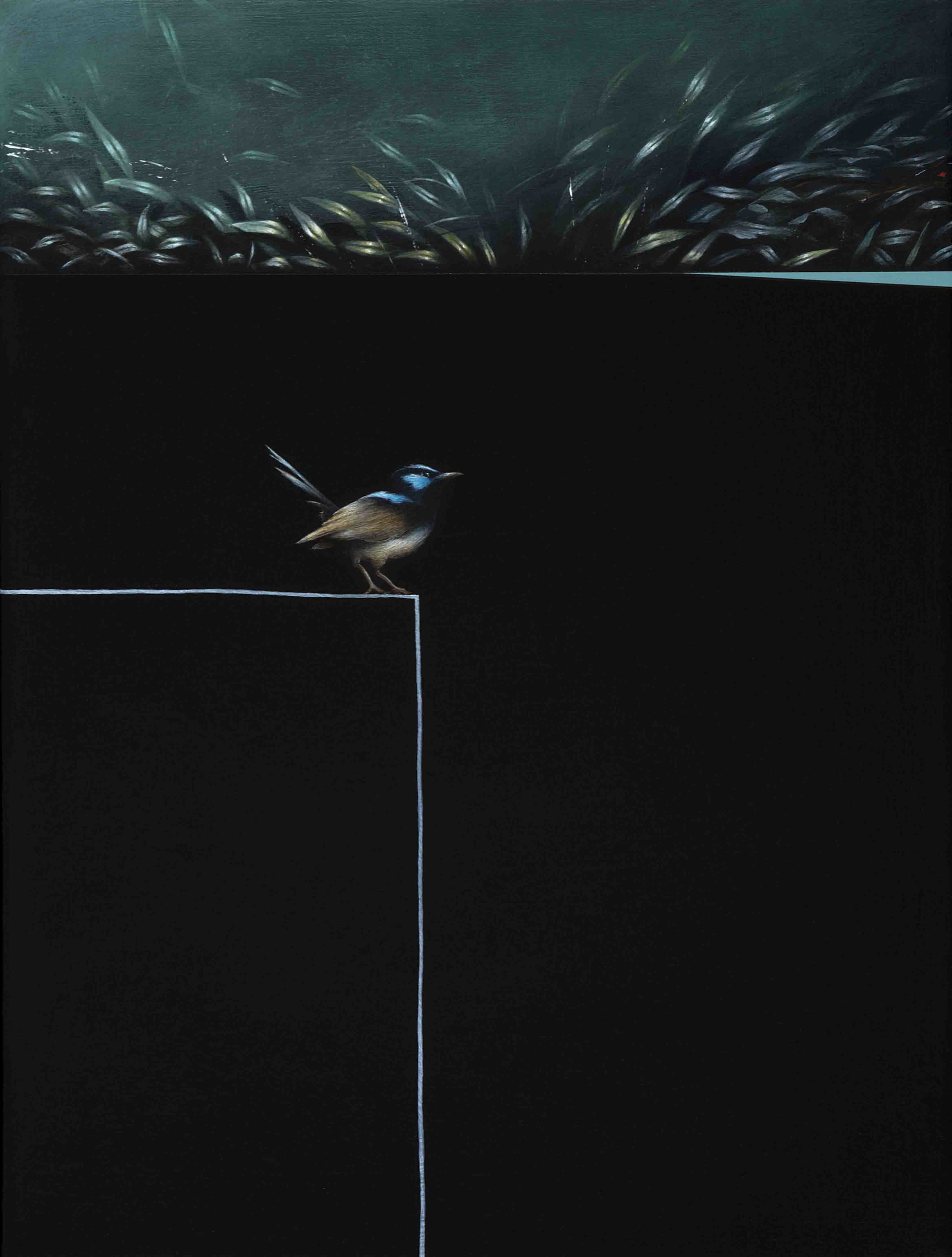 Jarek Wojcik, Enclosure 1,  2016, acrylic on linen, 41 x 31cm