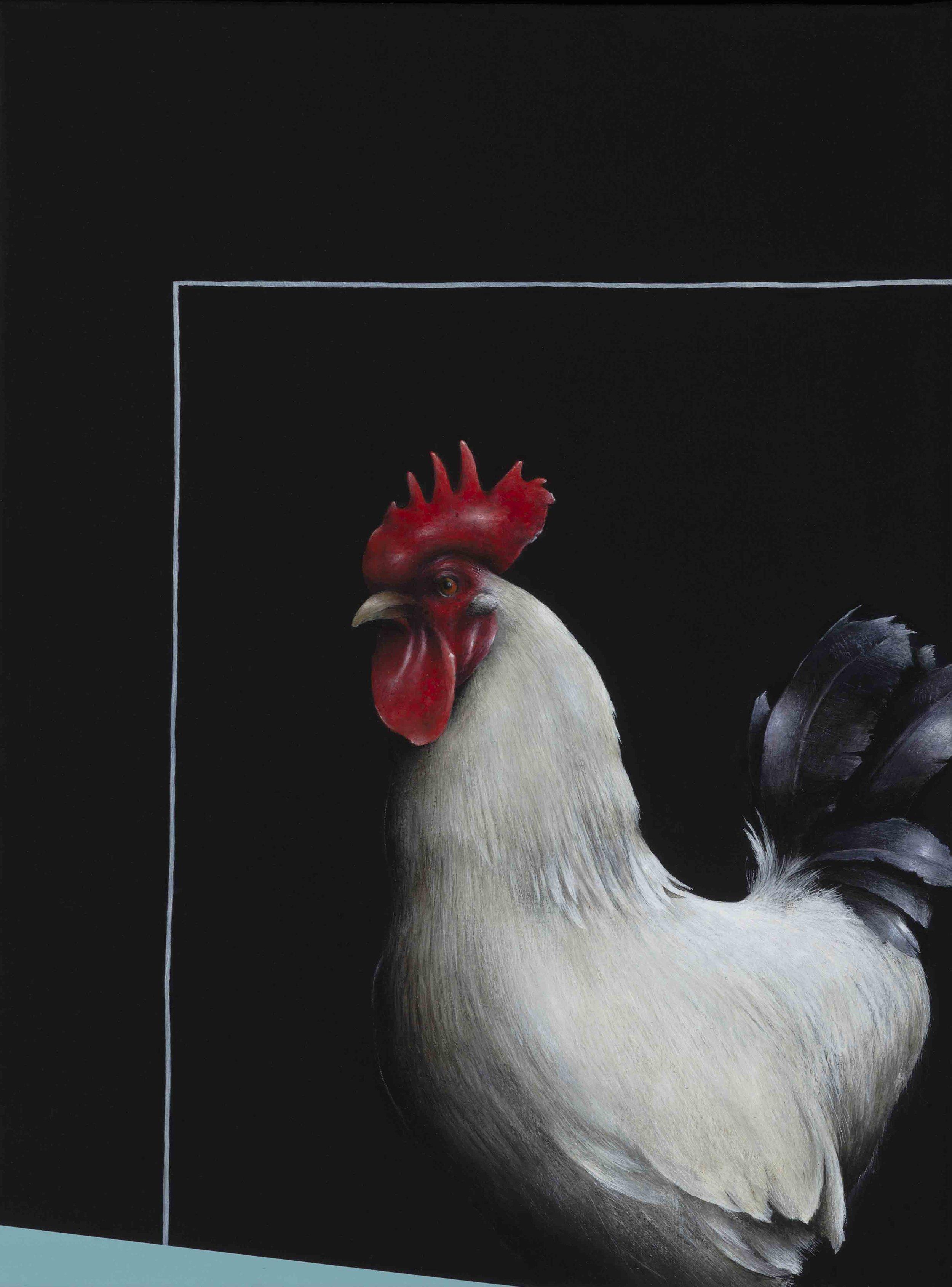 Jarek Wojcik, Enclosure 2 , 2016, acrylic on linen, 41 x 31cm