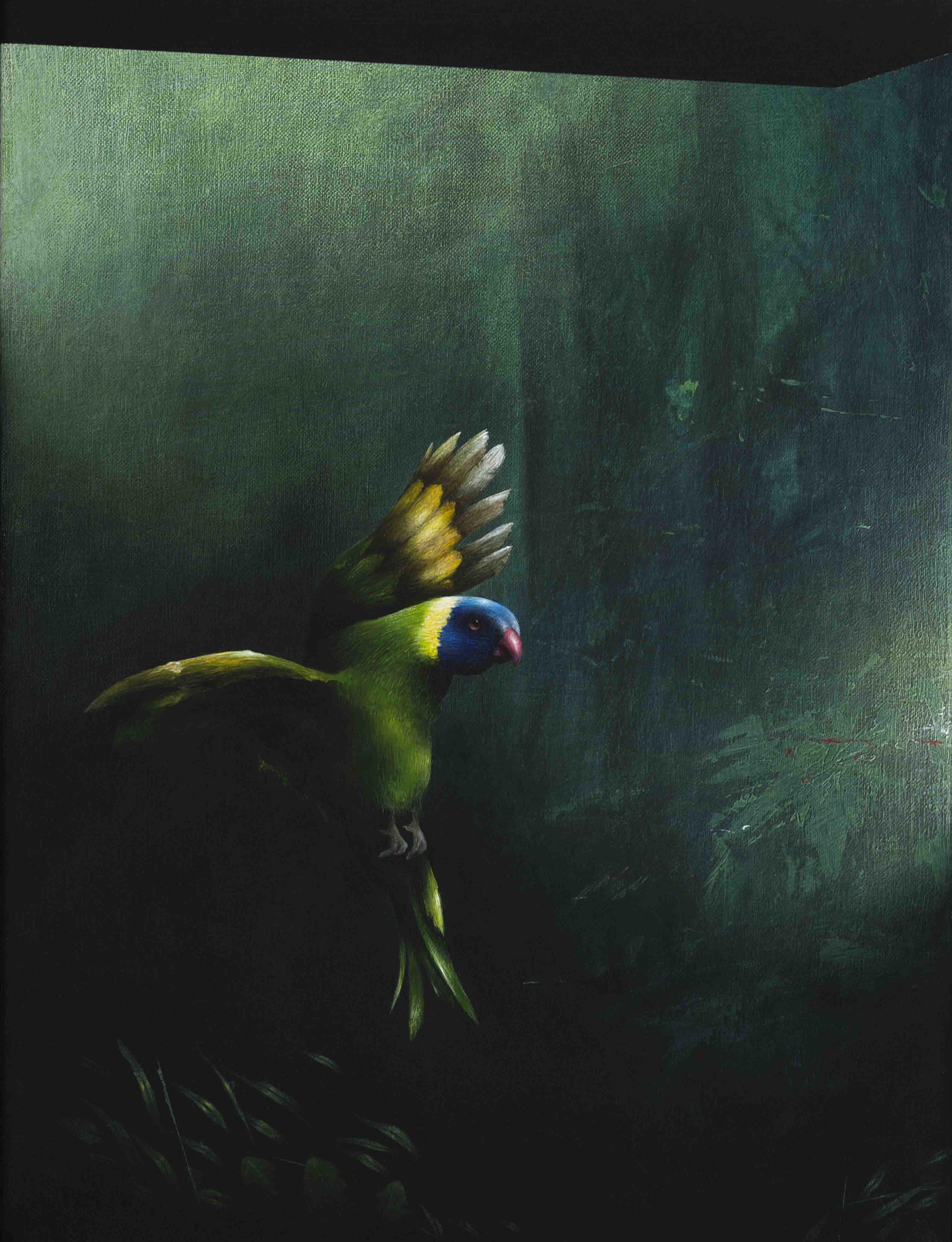 Jarek Wojcik, Presque Vu , 2016, acrylic on linen, 41 x 31cm