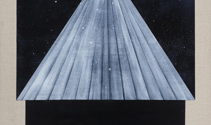 Betra Fraval,  Beam , 2015, oil on linen, 91 x 81cm