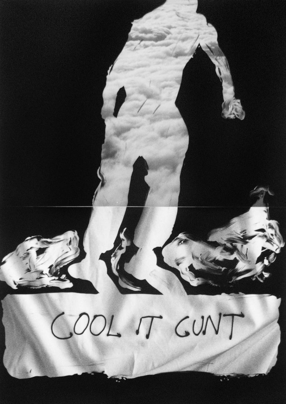 Benjamin Lichtenstein, Cool it cunt , 2015, unique state silver gelatin prints, 59.5 x 42cm