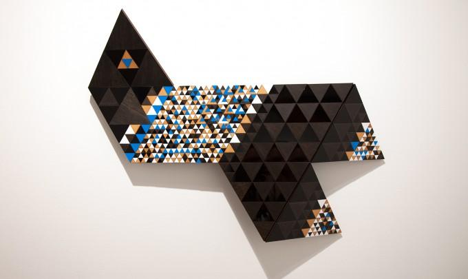Troy Innocent, Delta , 2014, laser cut plywood and acrylic, 66 x 89cm