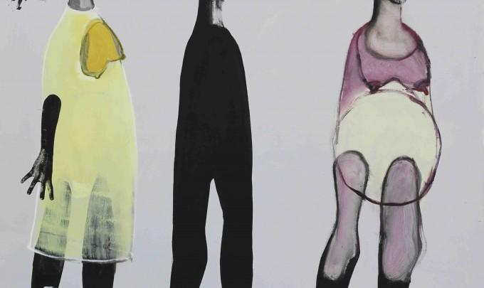 Christina Thwaites, Body transformations , 2014, acrylic on canvas, 122 x 122cm