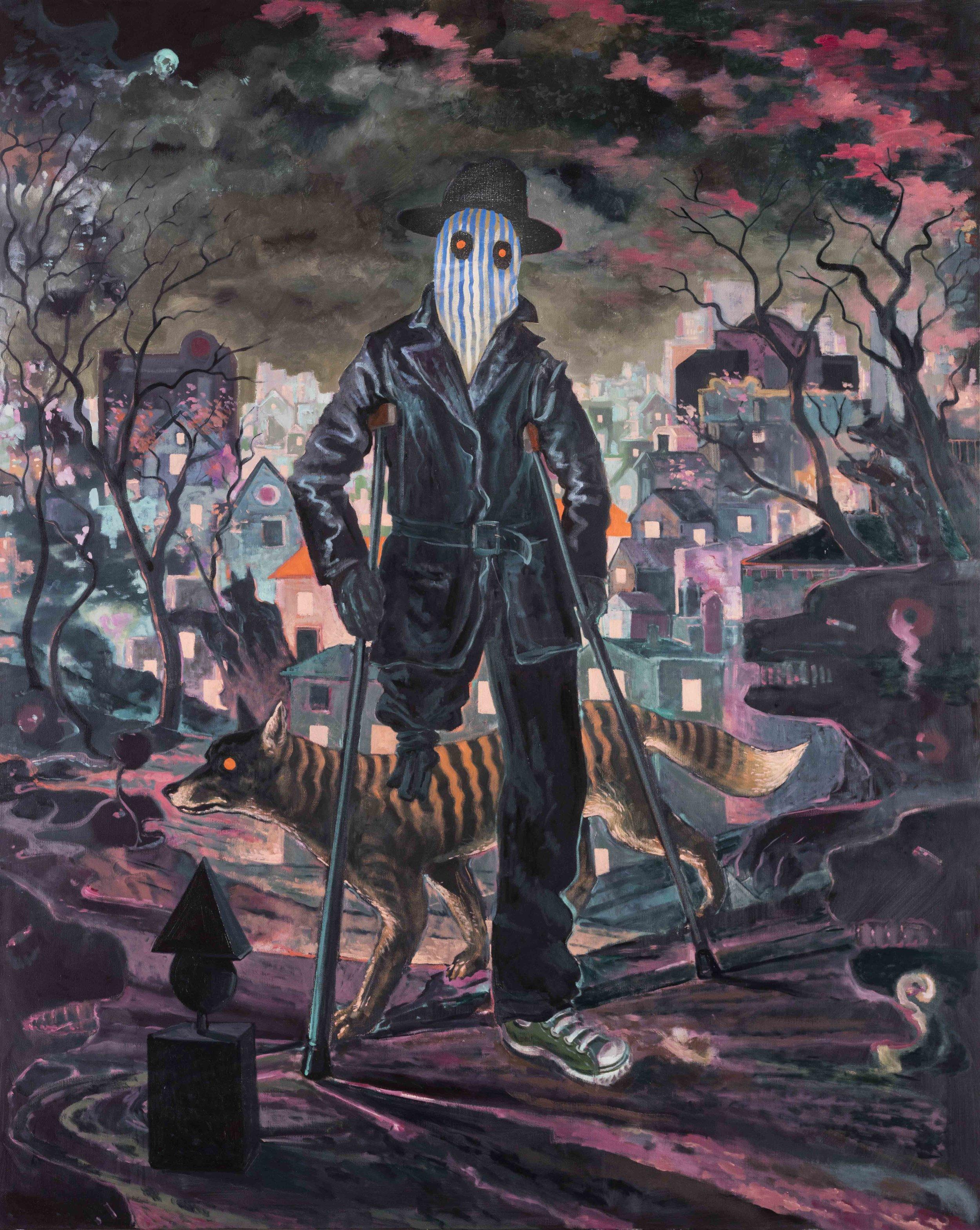 Michael Vale,  The Drifter's Escape,  2016, Oil on linen, 152 x 122 cm