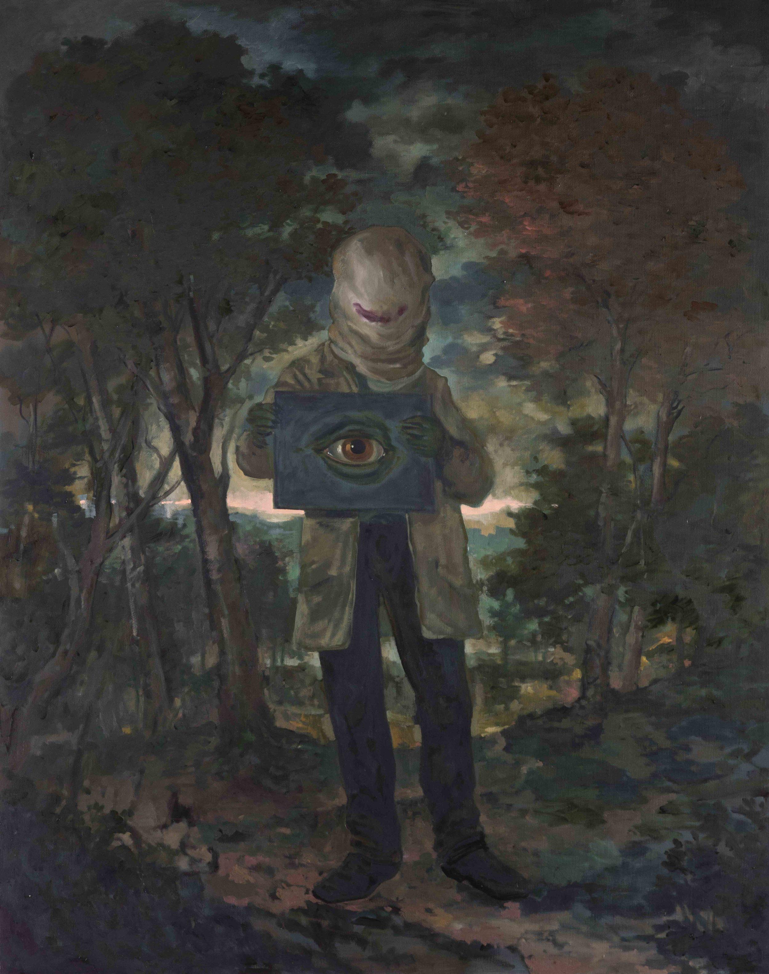 Michael Vale,  The Phantom Engineer I,  2016, Oil on linen, 122 x 92 cm