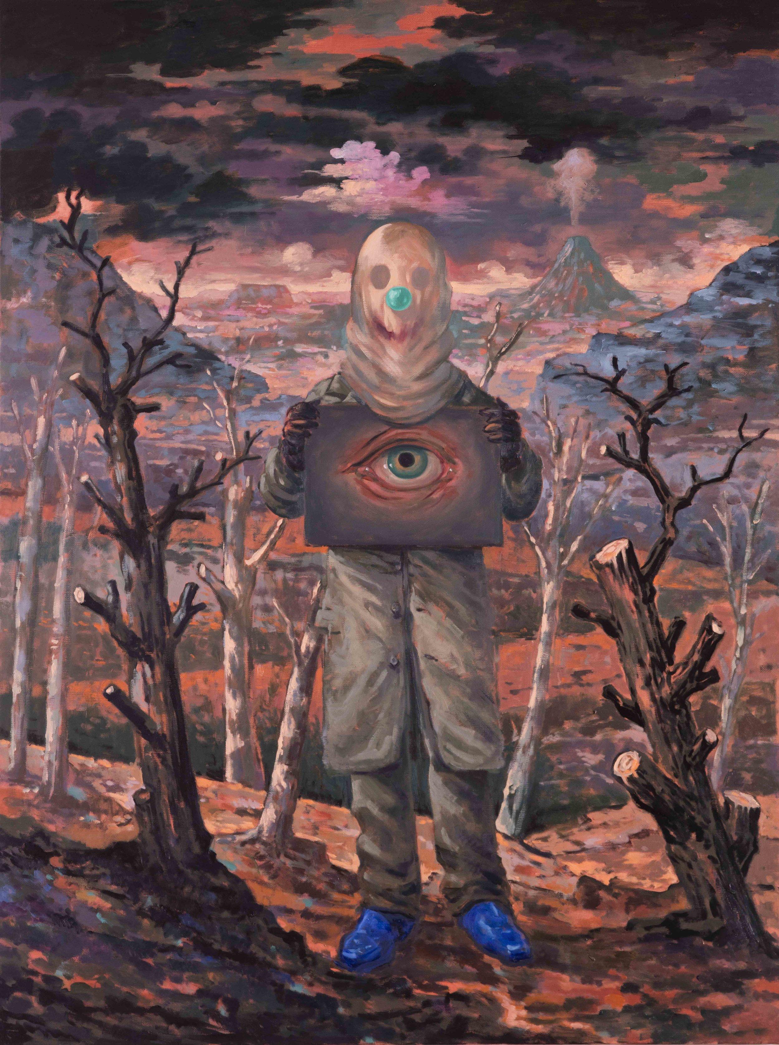 Michael Vale,  The Phantom Engineer II, 2016, Oil on linen, 122 x 92 cm