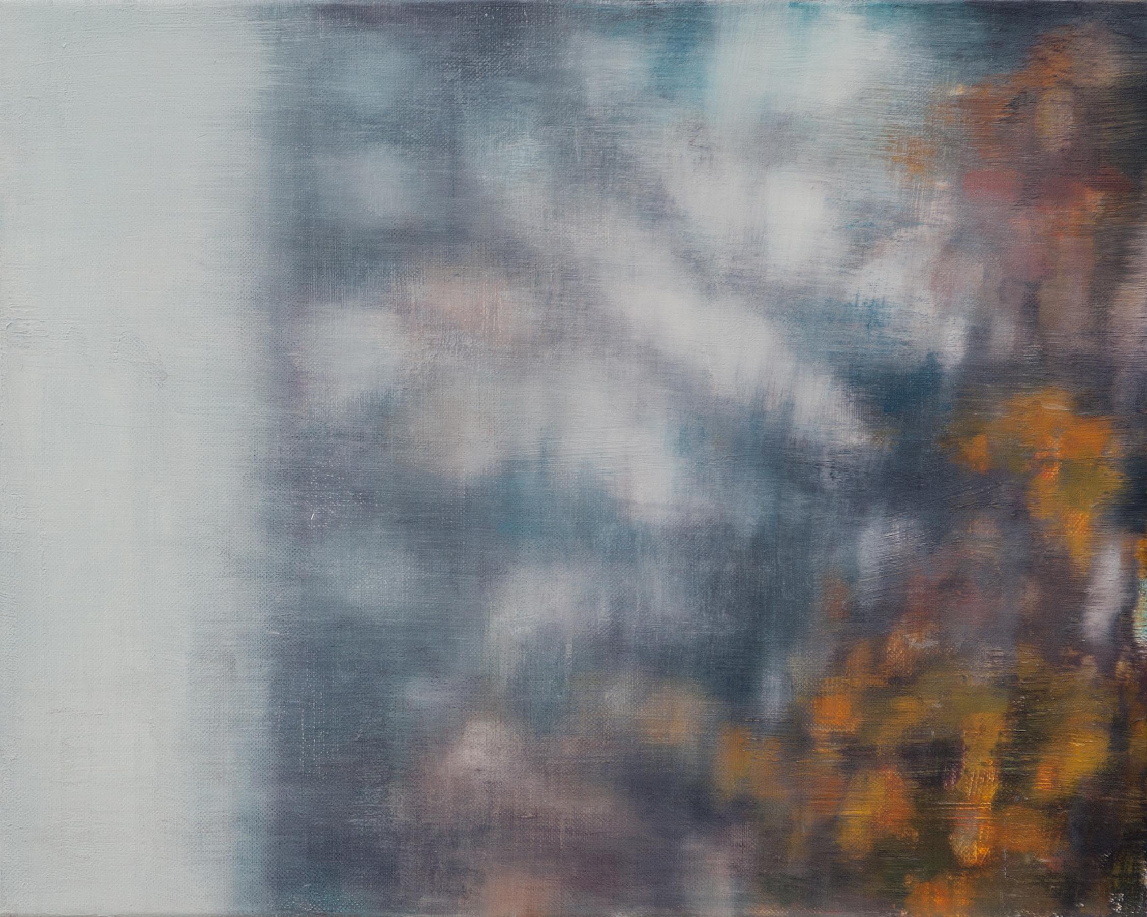 Joanna Logue, Essington - Window II , 2015, oil on linen on board, 40 x 50cm
