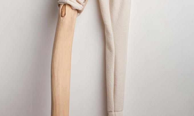 Julia Robinson,Twitch, 2012, boiled wool, thread, timber, press studs, fabric, 130 x 50 x 30cm