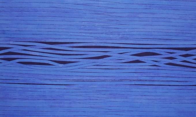 Sam Grigorian, Transfiguration 2 , 2007, mixed media, decollage, 150 x 150cm