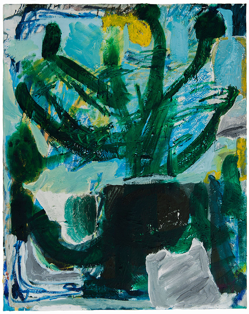 Teelah George,  Pine , 2017, Oil and enamel on linen, 92 x 76cm