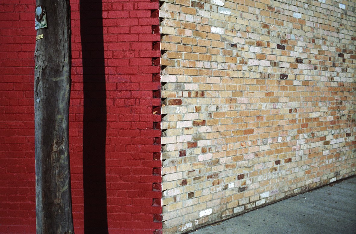 Jesse Marlow,  Red Bricks , 2009, pure pigment print, edition of 10