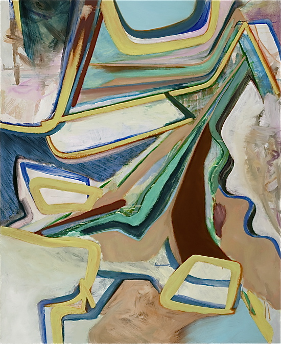 David Palliser, Fluoresence , 2011, oil on canvas, 137 x 112cm