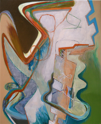 David Palliser, Plankton , 2010, oil on canvas, 138 x 112cm