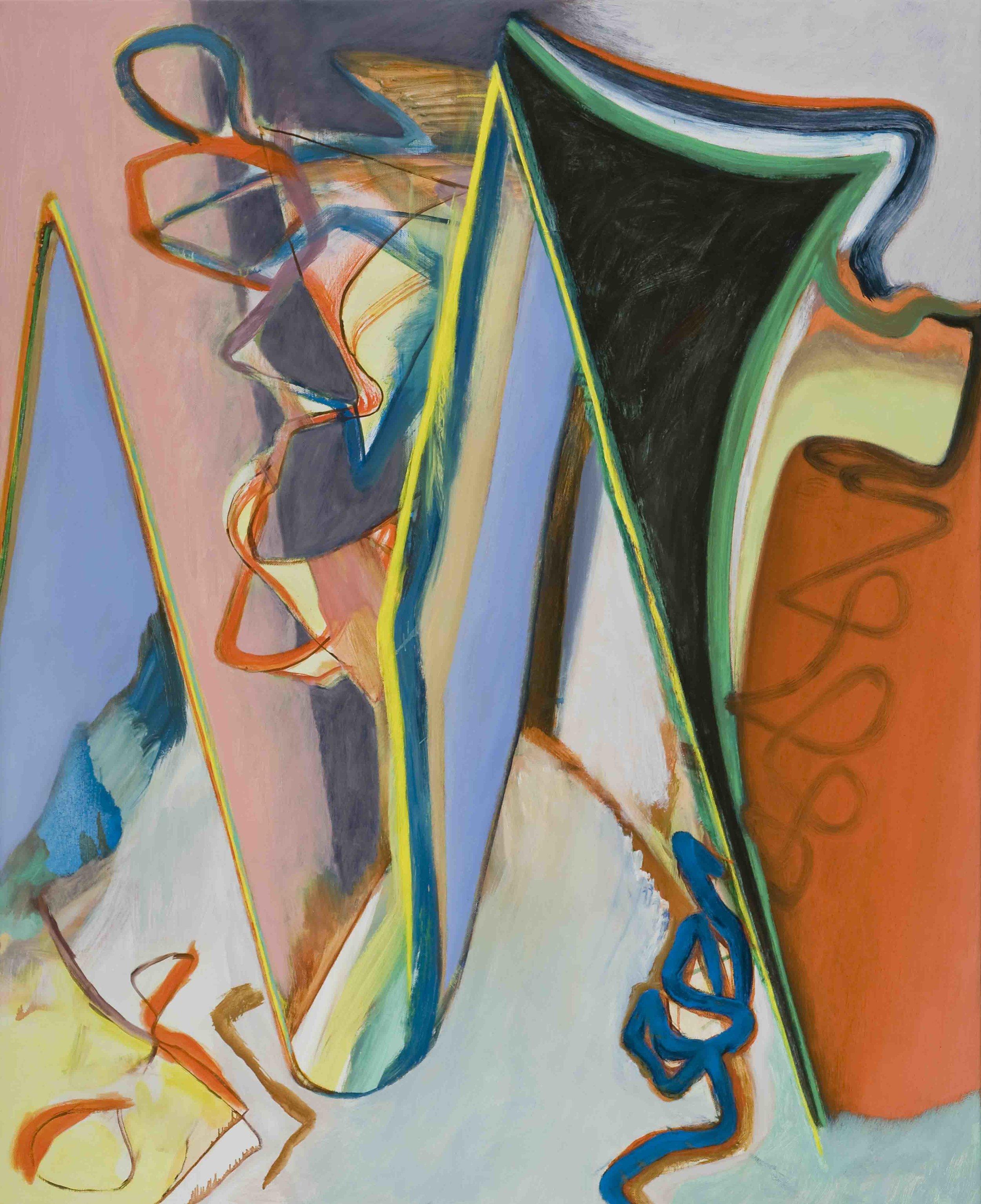 David Palliser, Somewhere Rolling , 2011, oil on canvas, 137 x 112cm