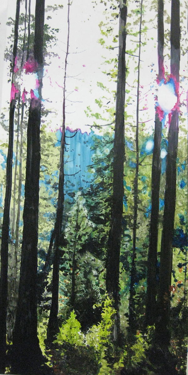 Grant Nimmo,  double day in the forest , 2010, oil on German beechwood