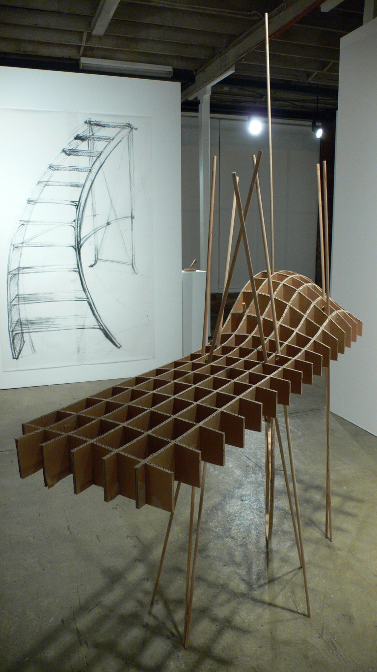Johnnie Dady,  An Uncertain Object (Provisional vehicle for walking on water),  2011, installation image