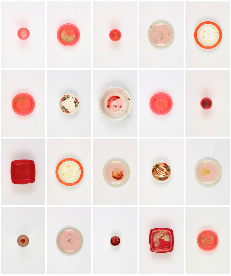 Vin Ryan,  20 Meals Eaten by Vin, Lisa and Lewis between 8 and 27 March, 2010 (5),  2010, digital print on archival paper, 90 x 75cm