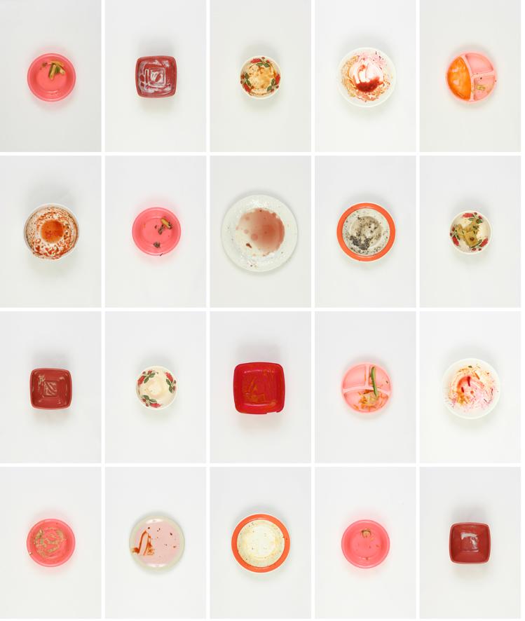 Vin Ryan,  20 meals eaten by Vin, Lisa and Lewis in 2010 (Red 2),  2010, digital print on archival paper, 90 x 75cm