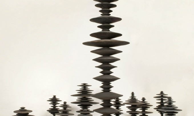 Ewen Coates,  Satori Discs,  2011, cast bronze discs, dimensions variable