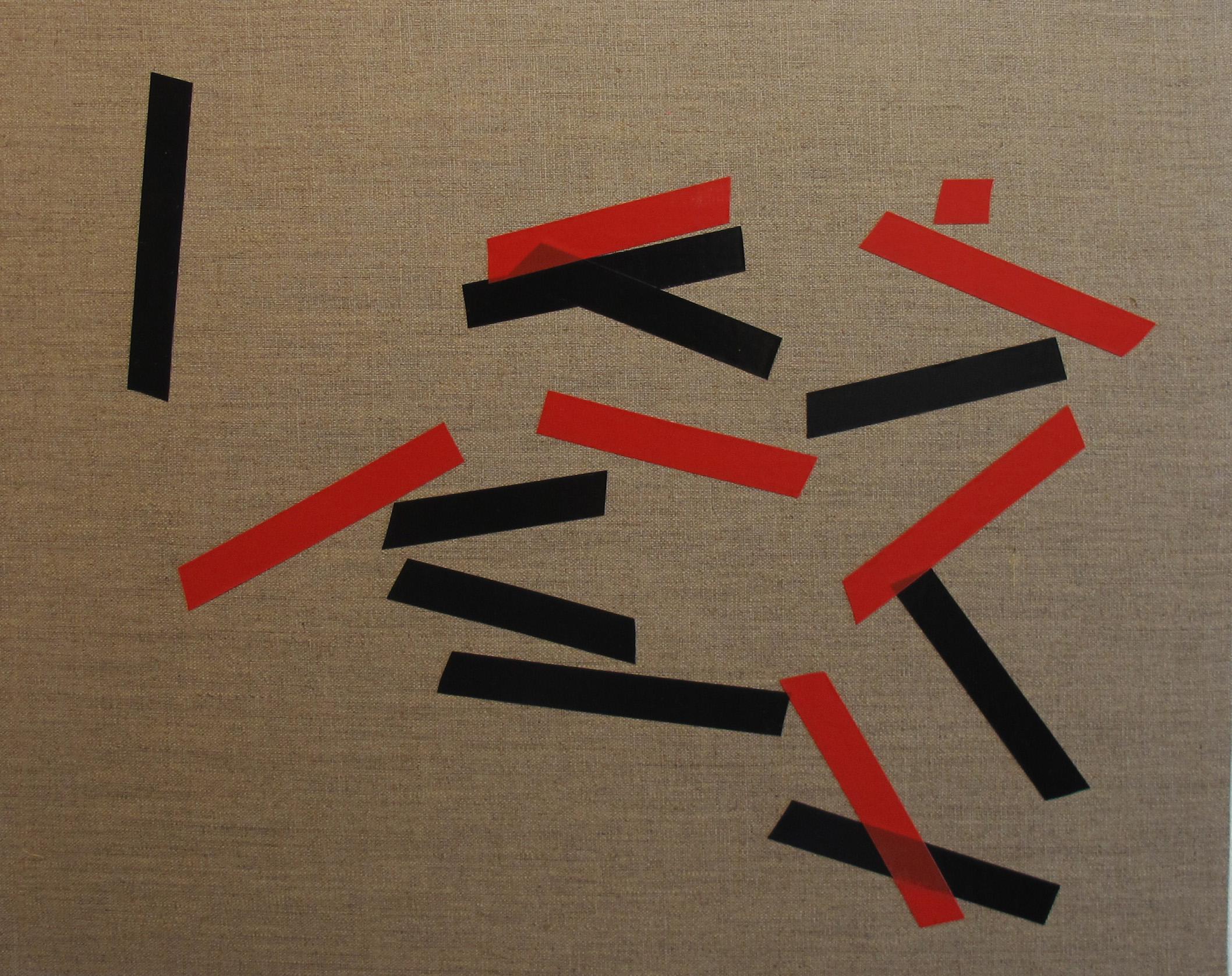 Billy Gruner,  Folk-Tape work No. 5 , 2012, electrical tape, linen artboard, 40 x 50cm