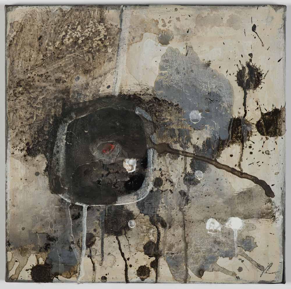 Matthew Bax,  Lights Out ! 2, 2011, acrylic, pencil, wax, binder on linen, 30 x 30cm
