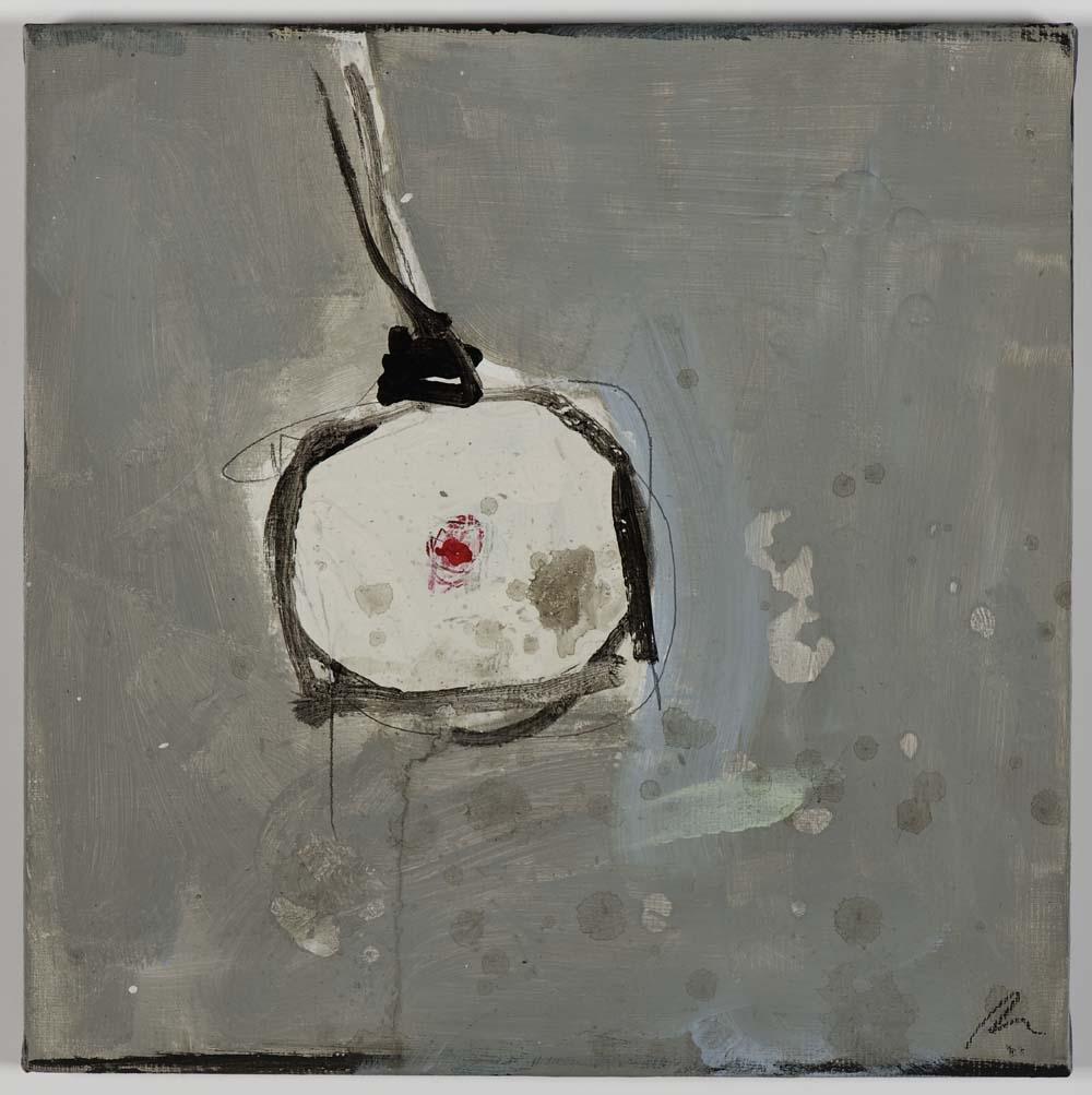 Matthew Bax,  Lights Out!,  2011, acrylic, binders, wax crayon on linen, 30 x 30cm