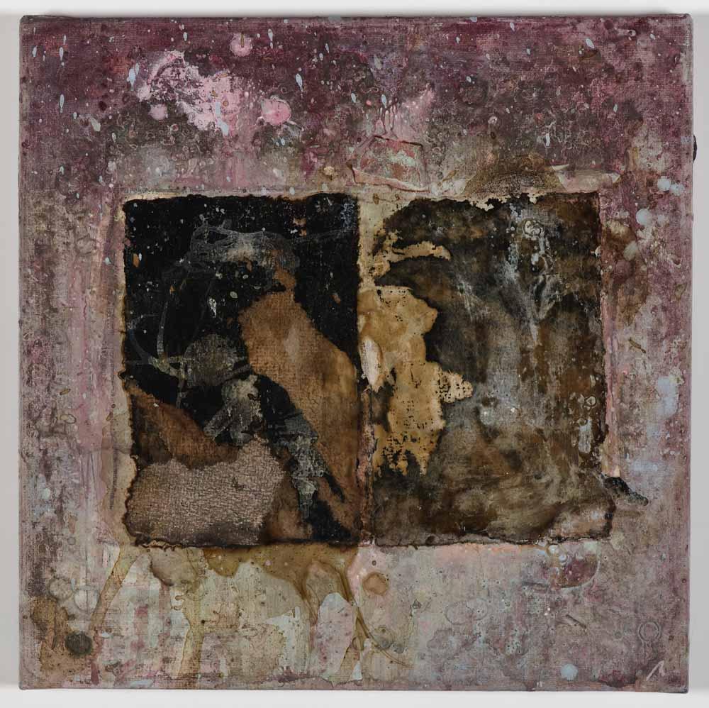 Matthew Bax,  Open Book,  2011, mixed media on linen, 30 x 30cm
