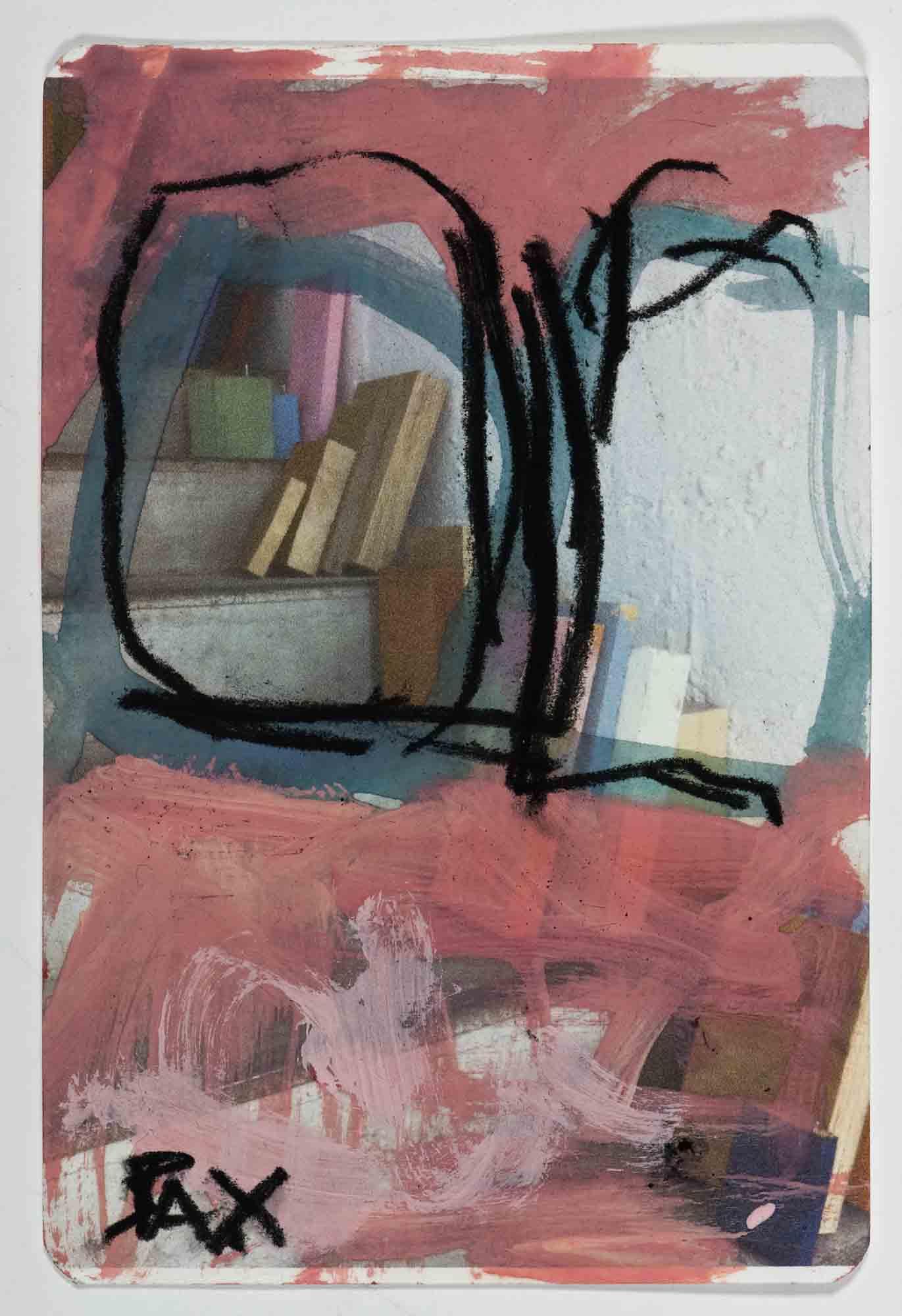 Matthew Bax,  Sample Chapter 6,  2012, acrylic, charcoal, pencil, wax crayon on paper, 15 x 10cm