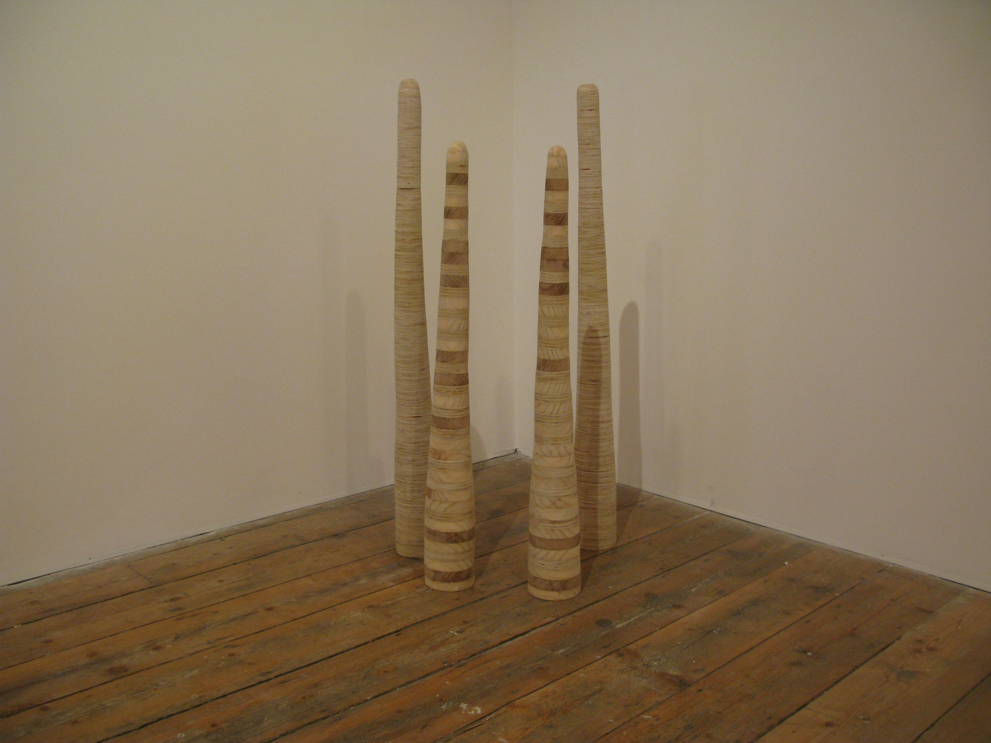 Kent Wilson,  Seasonally Adjusted,  2012, plywood, pine and red gum, dimensions variable