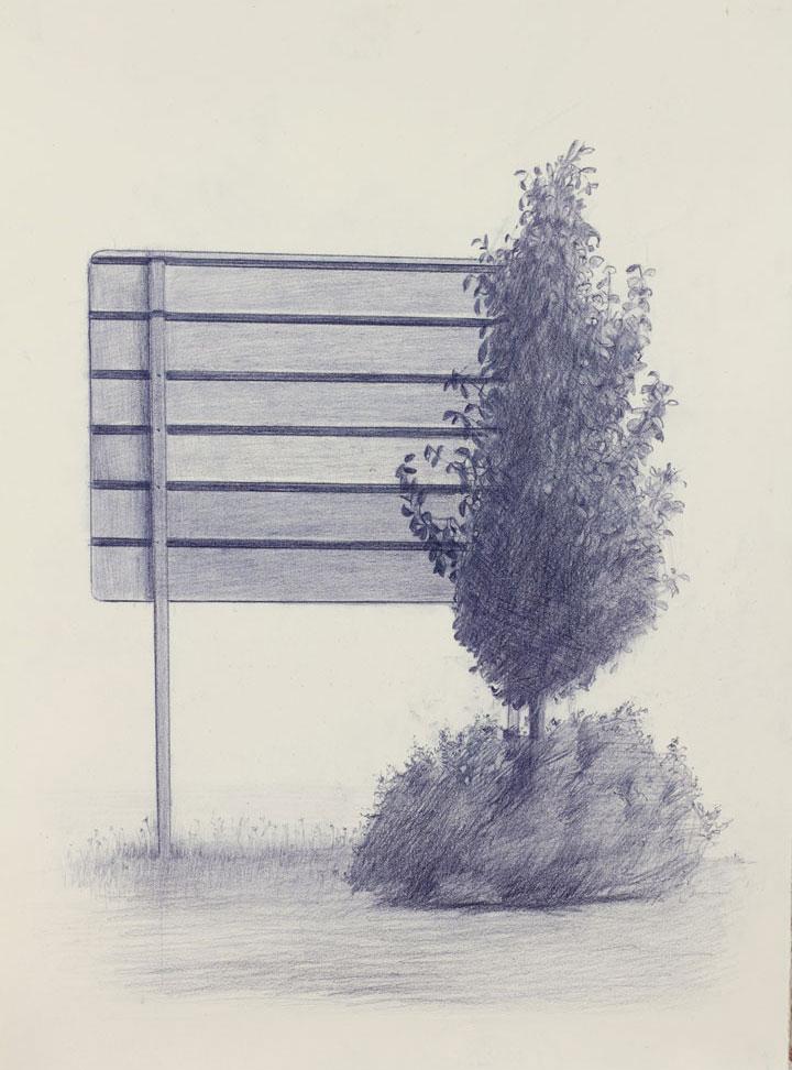 Vin Ryan,  Sign, Sunshine (2),  2012, pencil on paper, 38 x 28cm