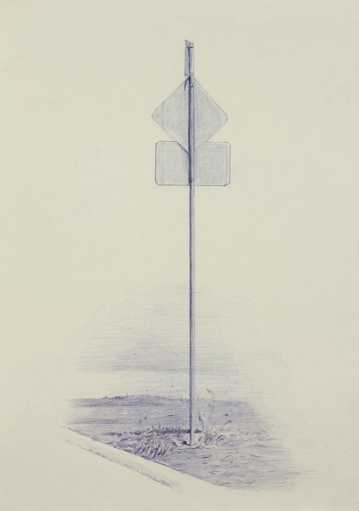 Vin Ryan,  Sign, Sunshine (5) , 2012, pencil on paper, 38 x 28cm