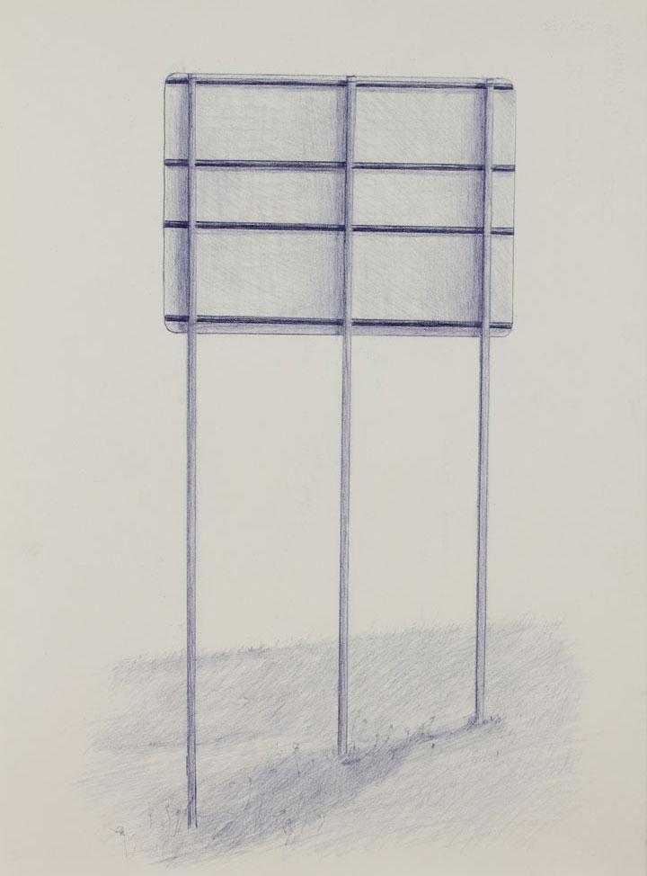 Vin Ryan,  Sign, Sunshine (4),  2012, pencil on paper, 38 x 28cm