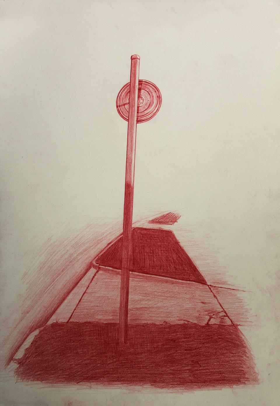 Vin Ryan,  Sign, Sunshine (6) , 2012, pencil on paper, 38 x 28cm
