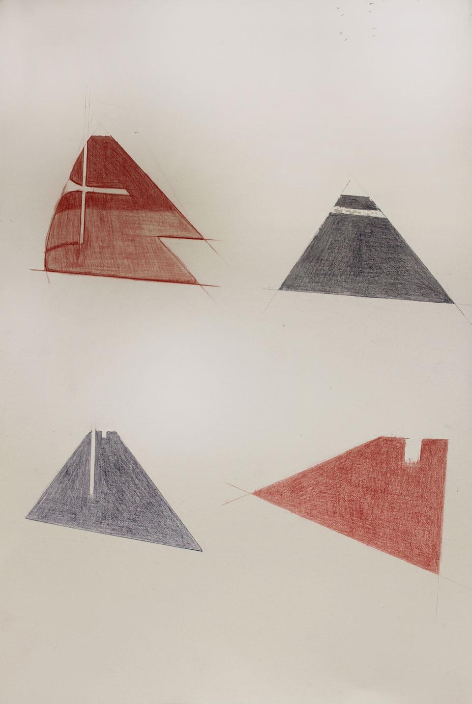 Vin Ryan,  Strips, Sunshine,  2012, pencil on paper, 38 x 28cm