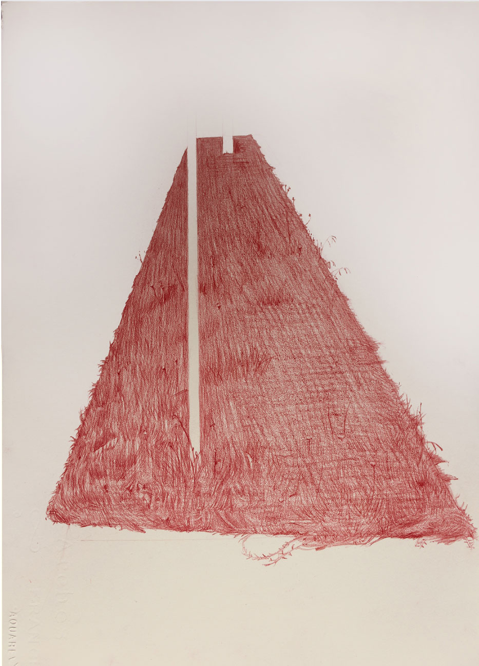 Vin Ryan,  Strip, Sunshine , 2012, pencil on paper, 38 x 28cm